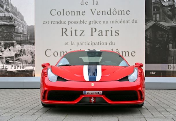 ferrari 458 speciale avant paris luxury car